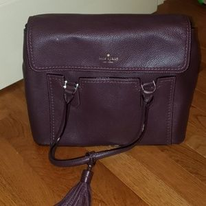 Kate Spade purple, leather handbag